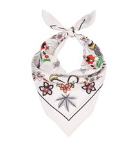 Sandro Karma Printed Silk Scarf Female White