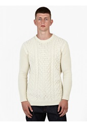 Ami Alexandre Mattiussi Off White Merino Cable Knit Sweater