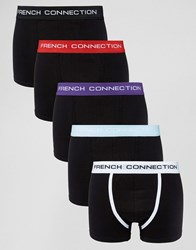 French Connection 5 Pack Boxers Black