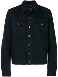 Saint Laurent Buttoned Jacket Black