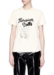 Sandrine Rose 'The Two Hundred In Must' Graphic Print T Shirt White