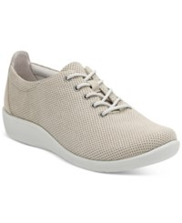 Clarks Collection Women's Cloud Steppers Sillian Tino Sneakers Women's Shoes Sand Perf Microfiber