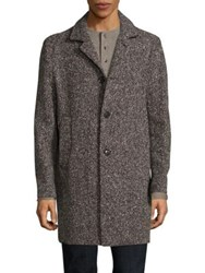 Eidos In Esilio Shay Donegal Tweed Car Coat Dark Brown