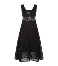 Pinko Embroidered Lace Dress Female Black