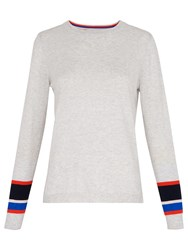 Whistles Stripe Cuff Crew Neck Jumper Grey Multi