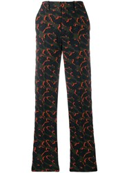 Zadig And Voltaire Leopard Jacquard Trousers Green