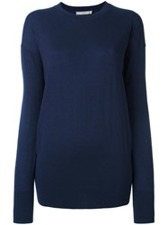 Vince Ultra Fine Crew Neck Sweater Blue