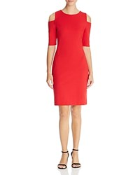 Michael Michael Kors Cold Shoulder Ponte Dress 100 Bloomingdale's Exclusive Red