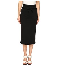 The Kooples Sport Cupro Fleece Skirt Black Women's Skirt