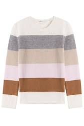 Agnona Striped Cashmere Pullover Stripes