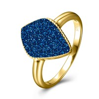 H. Azeem Elara's Blue Gold Star Ring