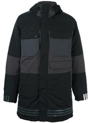Adidas By White Mountaineering Padded Hooded Coat Black