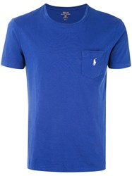 Polo Ralph Lauren Embroidered Logo T Shirt Men Cotton Xl Blue