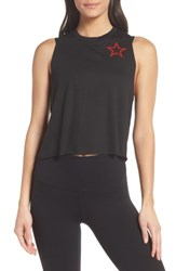Ultracor Pop Star Racerback Tank Nero Patent Rouge