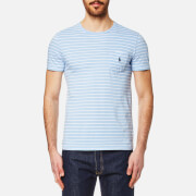 Polo Ralph Lauren Men's Pocket T Shirt Baby Blue White