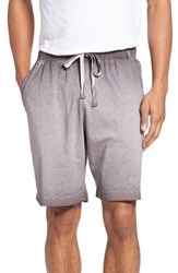 Daniel Buchler Men's Vintage Wash Cotton Lounge Shorts Grey