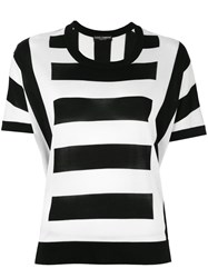 Dolce And Gabbana Striped Top Black