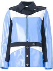 Courra Ges Colour Block Military Jacket Blue