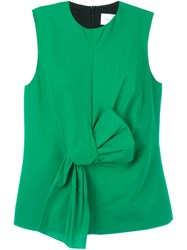 Victoria Beckham Bow Detail Tank Top Green
