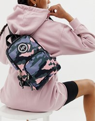Hype One Shoulder Strap Backpack In Camo Multi