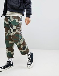 Obey Fubar Camo Cargo Pants In Loose Fit Green