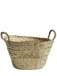 Hay Medium Bast Basket Beige