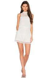 Nicholas Crepe Double Layer Romper White