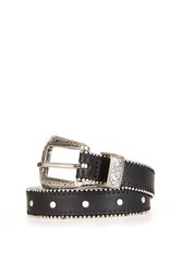 Topshop Ball And Chain Stud Western Belt Black