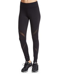 Michi Supanova Sport Leggings W Mesh Inset Black