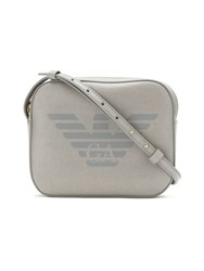 Emporio Armani Logo Print Shoulder Bag Grey