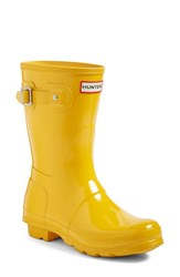 Hunter Women's 'Original Short' Gloss Rain Boot Yellow