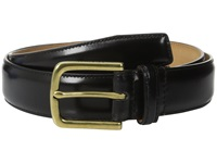 Cole Haan 32Mm Spazzolato Feather Edge Stitched Strap Black Brass Men's Belts Multi