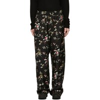 Haider Ackermann Black Freesia Pyjama Trousers