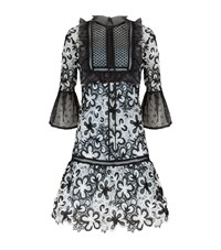 Self Portrait Floral Lace Drop Waist Mini Dress Female Multi