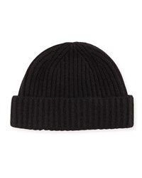 Goodman's Rib Knit Cashmere Hat Black