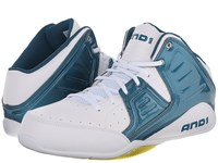 And 1 Rocket 4 Blue Coral Blazing Yellow White Men's Basketball Shoes