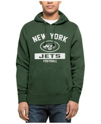 47 Brand '47 Men's New York Jets Gym Issued Hoodie Green White