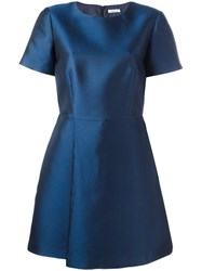 P.A.R.O.S.H. Flared Dress Blue