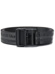 Off White Branded Industrial Belt Grey