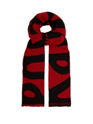 Faith Connexion X Kappa Mohair Blend Scarf Red