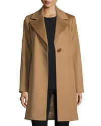 Fleurette Wool Single Button Coat Vicuna