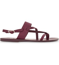 Ancient Greek Sandals Althea Leather Raspberry