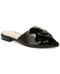 Nanette Lepore By Alexandra Floral Mules Created For Macy's Women's Shoes Black