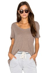 Project Social T Striped Easy Tee Brown