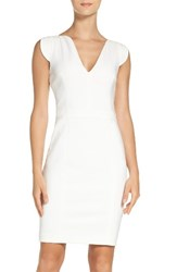 French Connection Women's 'Lolo' Stretch Sheath Dress White White