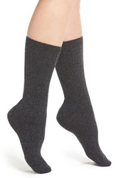 Halogenr Women's Halogen Cashmere Blend Crew Socks Heather Grey
