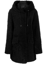 Drome Hooded Coat Black