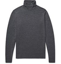 John Smedley Cherwell Merino Wool Rollneck Sweater Charcoal