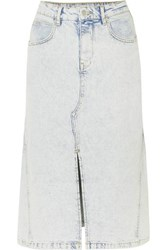Maje Denim Midi Skirt Light Denim