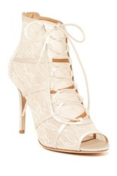 Badgley Mischka Sherry Lace Up Pump White